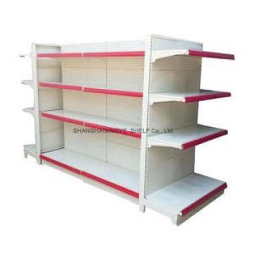 Shop supermarket department store shelves with advertising space