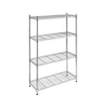 HOIFAT home&garden grey small indoor book display rack commercial metal frame wire shelving assembly units